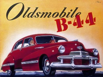 Poster Advertising an Oldsmobile B44, 1942--Giclee Print