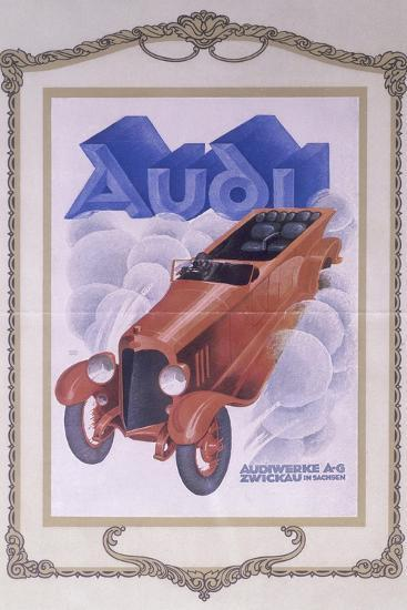 Poster Advertising Audi Cars, 1922--Giclee Print