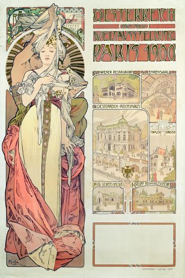 Poster Advertising 'Austria at the International Exposition, Paris 1900', 1900-Alphonse Mucha-Giclee Print
