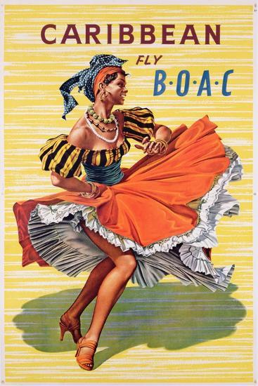 Poster Advertising B.O.A.C. Flights to the Caribbean, C.1950--Giclee Print