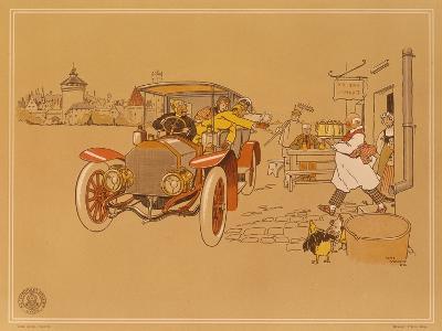 Poster Advertising Berliet Cars, 1906-Ren? Vincent-Giclee Print