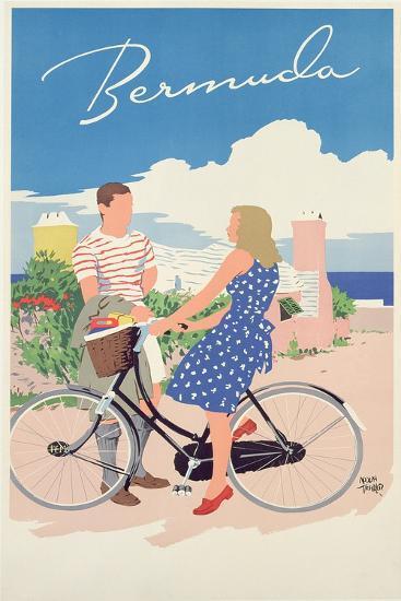 Poster Advertising Bermuda, c.1956-Adolph Treidler-Giclee Print
