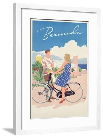 Poster Advertising Bermuda, c.1956-Adolph Treidler-Framed Giclee Print