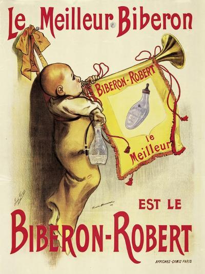 Poster Advertising 'Biberon-Robert' Baby Bottles-Firmin Bonisset-Giclee Print