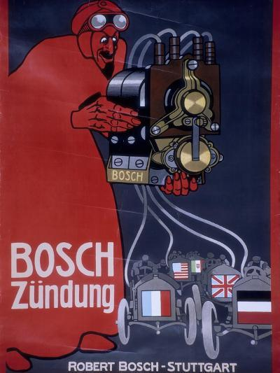 Poster Advertising Bosch Ignition Systems--Giclee Print