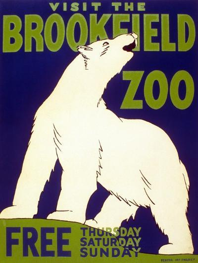 Poster Advertising Brookfield Zoo in Chicago, Illinois, 1938--Giclee Print
