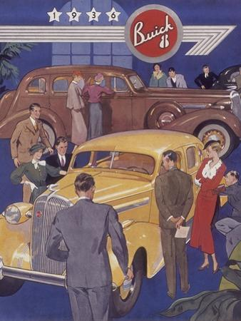 Poster Advertising Buick Cars, 1936