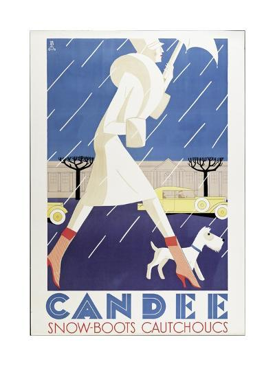 Poster Advertising 'Candee' Snowboots, 1929--Giclee Print