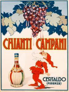 Poster Advertising Chianti Campani, Milan, 1940