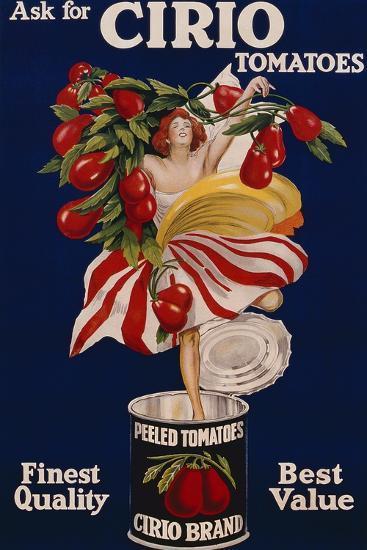 Poster Advertising Cirio Tomatoes, C.1920--Giclee Print