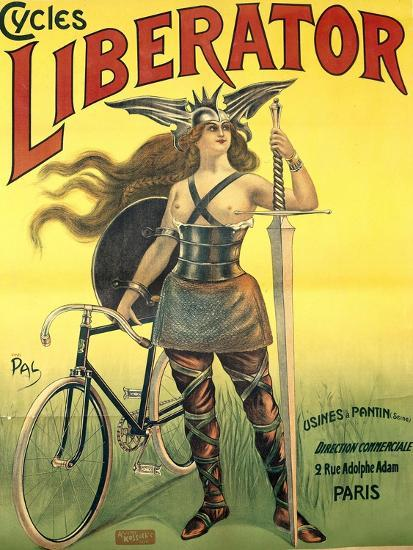 Poster Advertising 'Cycles Liberator' from Pantin, Printed by Kossoth Et Cie, Paris-Pal-Giclee Print