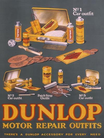 Poster Advertising Dunlop Products--Giclee Print