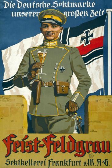 Poster Advertising Feist Champagne, 1917--Giclee Print