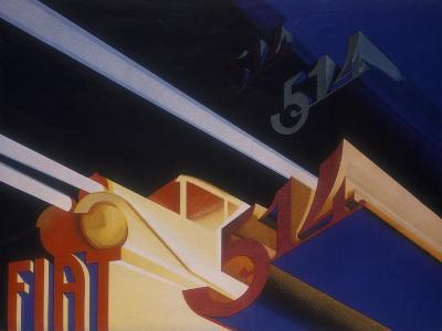 Poster Advertising Fiat Cars, 1931--Giclee Print
