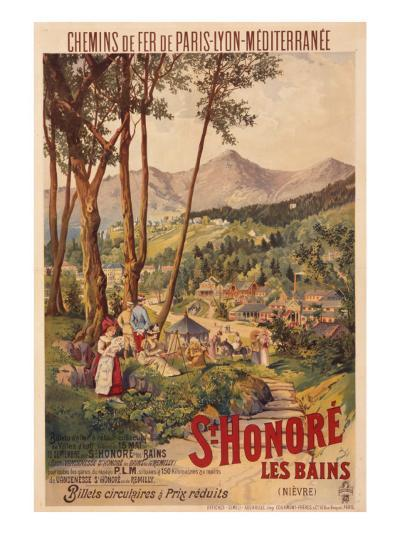Poster Advertising French Railways to St Honore Les Bains--Giclee Print