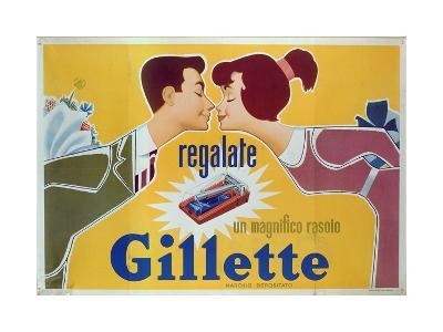 Poster Advertising Gillette Razors-Italian School-Giclee Print