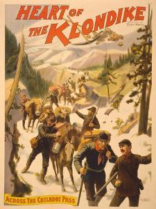 Poster Advertising 'Heart of the Klondike' by Scott Marble, 1897