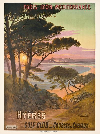 Poster Advertising Hyeres, France, C.1900-Hugo D' Alesi-Giclee Print