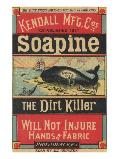 Poster Advertising Kendall Mfg. Co's 'soapine', C.1890-American School-Giclee Print