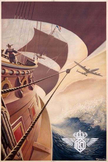 Poster Advertising 'Klm', C.1938--Giclee Print