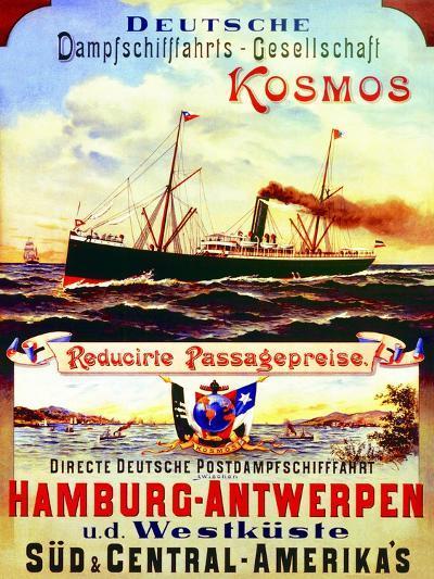 Poster Advertising Kosmos Steamship Company, 1901--Giclee Print