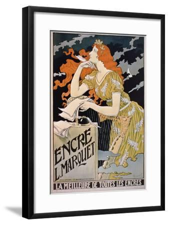 Old French advertising Poster reproduction Encre L.Marquet