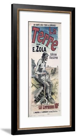Poster Advertising La Terre by Emile Zola, 1889-Jules Chéret-Framed Giclee Print