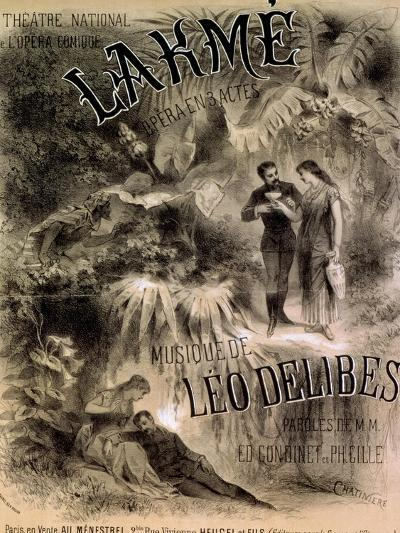 """Poster Advertising """"Lakme,"""" Opera by Leo Delibes (1861-91)-Antonin Marie Chatiniere-Giclee Print"""