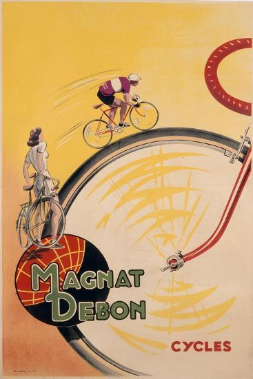 Poster Advertising 'Magnat Debon' Cycles, C.1950--Giclee Print
