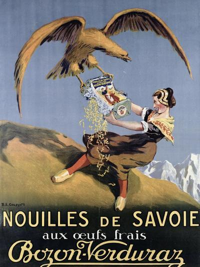 Poster Advertising Pasta Made by 'Bozon-Verduraz'-E^l^ Cousyn-Giclee Print