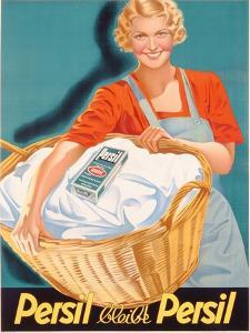 Poster Advertising Persil, Printed by Henkel and Voith M.B.H., Vienna, C.1936