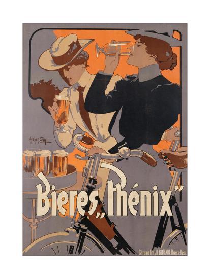 Poster Advertising Phenix Beer, C.1899 (Colour Litho)-Adolfo Hohenstein-Premium Giclee Print