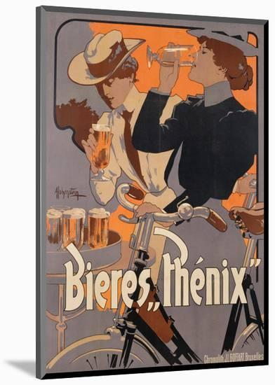 Poster Advertising Phenix Beer, C.1899 (Colour Litho)-Adolfo Hohenstein-Mounted Premium Giclee Print