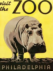 Poster Advertising Philadelphia Zoo, 1938