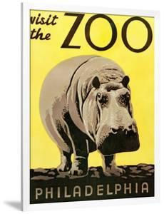 Poster Advertising Philadelphia Zoo, 1938