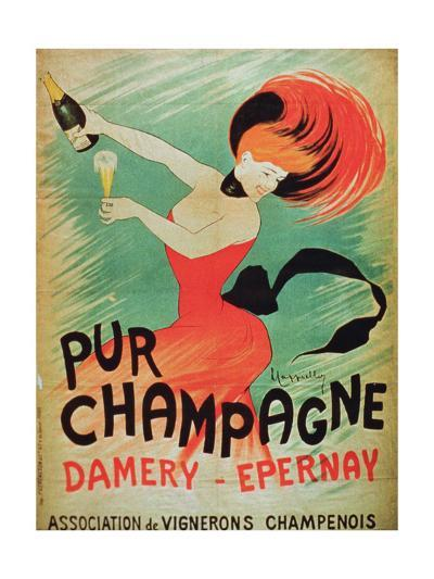 Poster Advertising 'Pur Champagne', from Damery, Epernay--Giclee Print