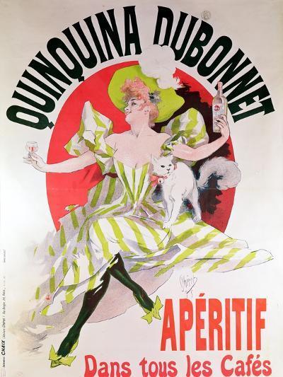 "Poster Advertising ""Quinquina Dubonnet"" Aperitif, 1895-Jules Ch?ret-Giclee Print"