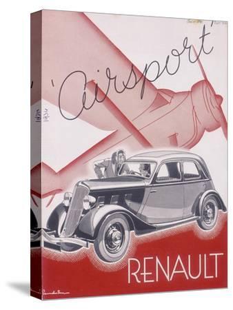 Poster Advertising Renault Cars, 1934