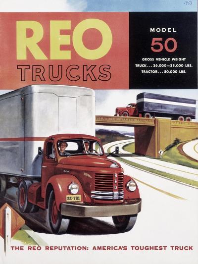 Poster Advertising Reo Trucks, 1958--Giclee Print