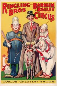 Poster Advertising 'Ringling Brothers and Barnum and Bailey Combined Circus', C.1938