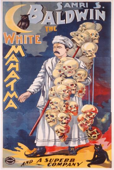 Poster Advertising Samri S. Baldwin, the White Mahatma, C.1888--Giclee Print
