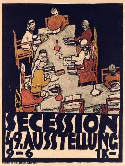 Poster Advertising Secession 49 Exhibition, 1918-Egon Schiele-Giclee Print