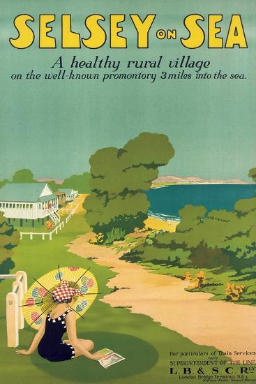 Poster Advertising Selsey-On-Sea, 1922--Giclee Print