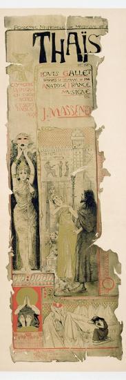 Poster Advertising 'Thais', C.1895-Manuel Orazi-Giclee Print