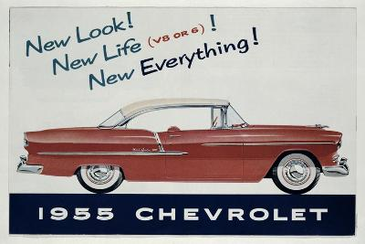 Poster Advertising the 1955 Chevrolet Car--Giclee Print