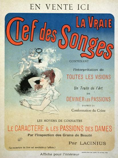 """Poster Advertising the Book """"La Vraie Clef Des Songes"""" by ..."""