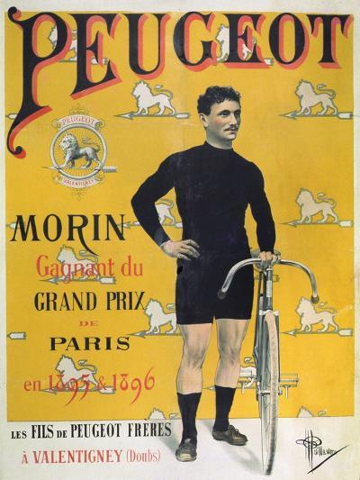Poster Advertising the Cycles 'Peugeot', 1896-Albert Guillaume-Giclee Print