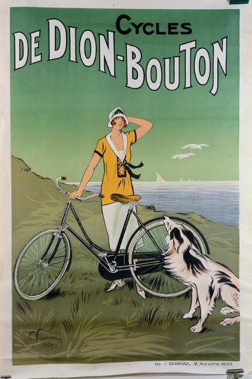 Poster Advertising the 'De Dion-Bouton' Cycles, 1925-Felix Fournery-Giclee Print