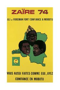 Poster Advertising the Fight Between Muhammad Ali and George Foreman in Zaire, 1974