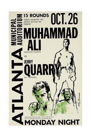 Muhammad Ali Training NEW Door Poster B//W
